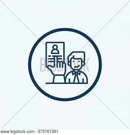 Recruiter Icon Isolated On White Background From Recruitment Collection. Recruiter Icon Trendy And M