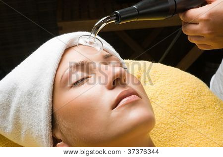 High frequency treatment for skin to sterilization