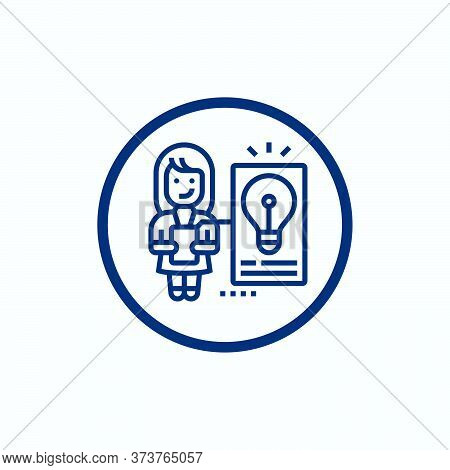 Idea Icon Isolated On White Background From Education Collection. Idea Icon Trendy And Modern Idea S