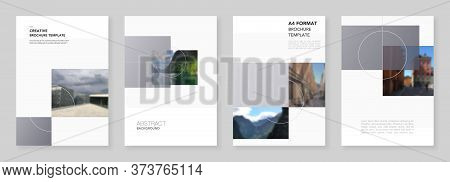 A4 Brochure Layout Of Modern Covers Design Templates For Business Flyer Leaflet, A4 Format Brochure