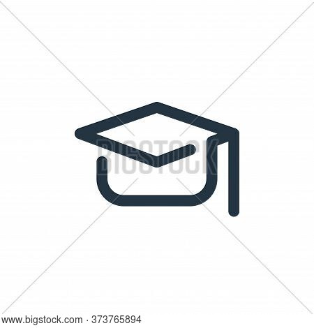 Mortarboard Vector Icon From School Collection Isolated On White Background