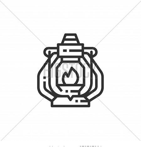 oil lamp icon isolated on white background from camping collection. oil lamp icon trendy and modern