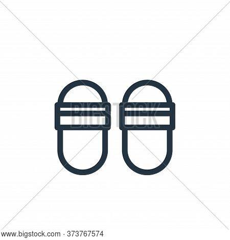 slippers icon isolated on white background from fashion collection. slippers icon trendy and modern