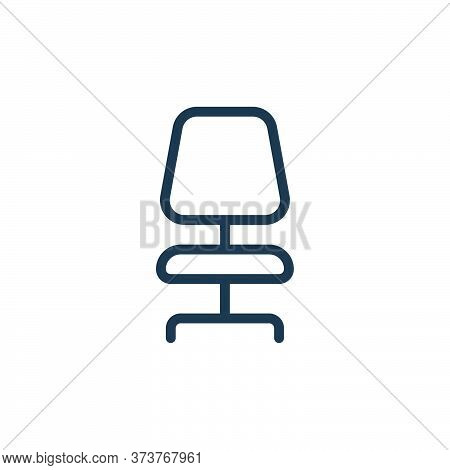 office chair icon isolated on white background from work office supply collection. office chair icon