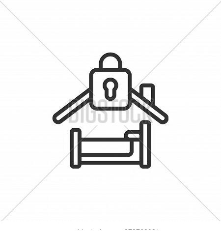 bedroom icon isolated on white background from self isolation collection. bedroom icon trendy and mo