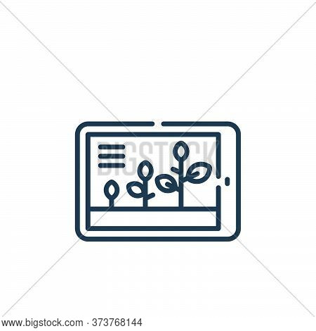 growth icon isolated on white background from smart farm collection. growth icon trendy and modern g