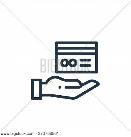 hand icon isolated on white background from online shopping collection. hand icon trendy and modern