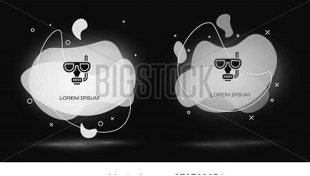 Black Diving Mask And Snorkel Icon Isolated On Black Background. Extreme Sport. Diving Underwater Eq