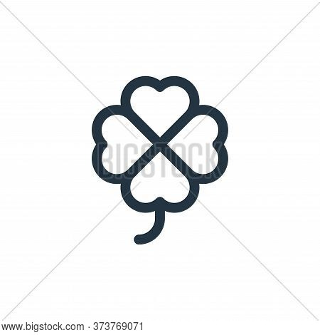 clover icon isolated on white background from europe collection. clover icon trendy and modern clove