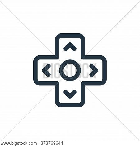 button icon isolated on white background from virtual reality collection. button icon trendy and mod