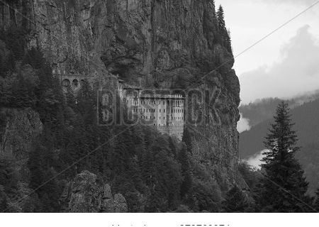 Overall View Of The Sumela Monastery In Trabzon, Turkey.