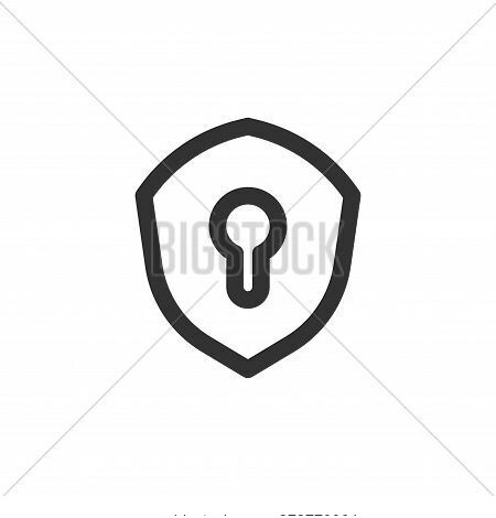 security icon isolated on white background from basic ui collection. security icon trendy and modern