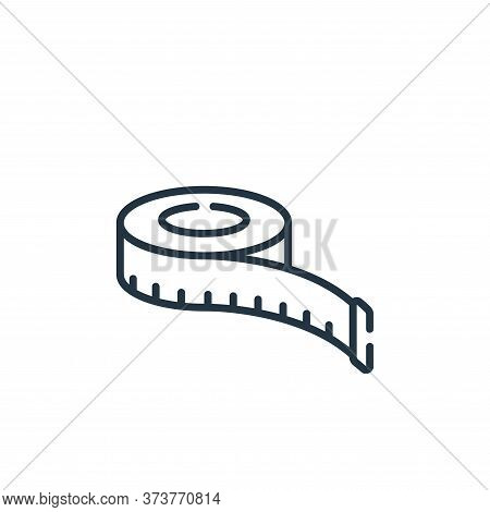 measuring tape icon isolated on white background from sewing collection. measuring tape icon trendy