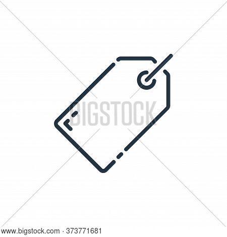 tag icon isolated on white background from user interface collection. tag icon trendy and modern tag