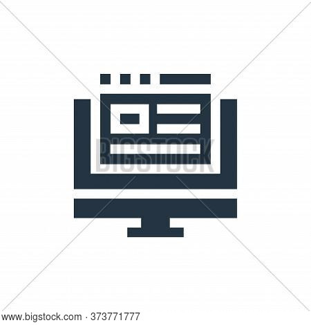 blog icon isolated on white background from advertisement collection. blog icon trendy and modern bl