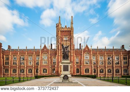 Belfast, Northern Ireland, Uk - July 31, 2019 Panoramic View Of The Queens University Of Belfast, No