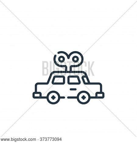 car toy icon isolated on white background from plastic products collection. car toy icon trendy and