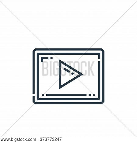 video marketing icon isolated on white background from marketing collection. video marketing icon tr
