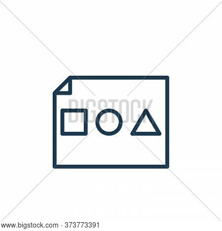 Basic Shapes Vector Icon From Graphic Design Collection Isolated On White Background