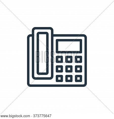telephone icon isolated on white background from contact collection. telephone icon trendy and moder