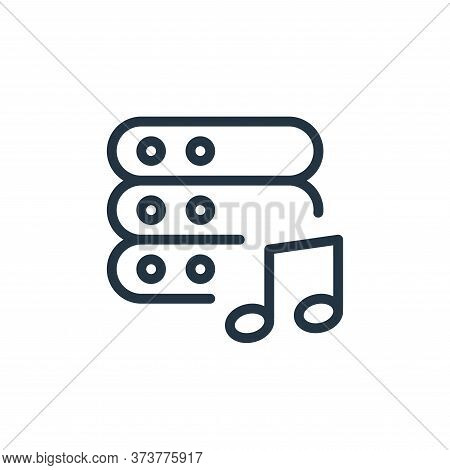 music icon isolated on white background from work office server collection. music icon trendy and mo