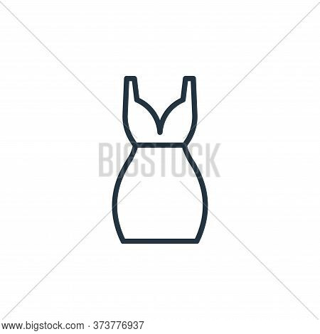 short dress icon isolated on white background from wardrobe collection. short dress icon trendy and