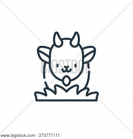 goat icon isolated on white background from animal welfare collection. goat icon trendy and modern g