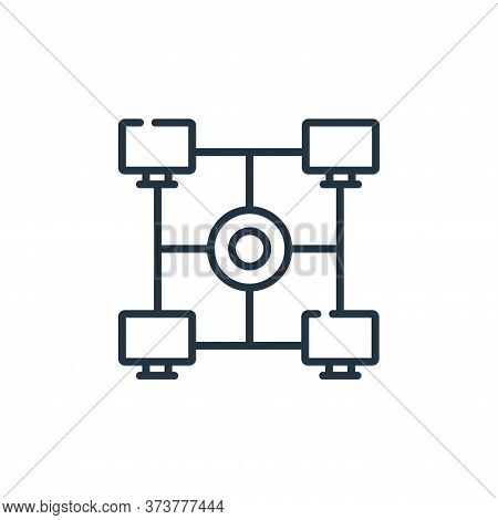 Intranet Vector Icon From Telecommuting Collection Isolated On White Background