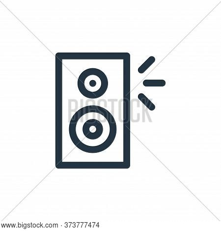 speaker icon isolated on white background from music collection. speaker icon trendy and modern spea