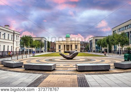 Dublin, Ireland - July 29th, 2019: The Wishing Hand Sculpture By Linda Brunker In The Department Of