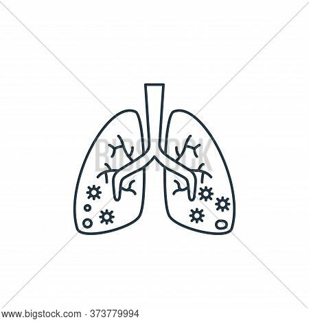 pneumonia icon isolated on white background from coronavirus covid collection. pneumonia icon trendy