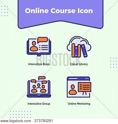 Preview Online Course Icon Interactive Book Cloud Library Interactive Group Online Mentoring With Ou