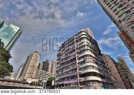 30 April 2020 The Street Scene In Mong Kok Hong Kong