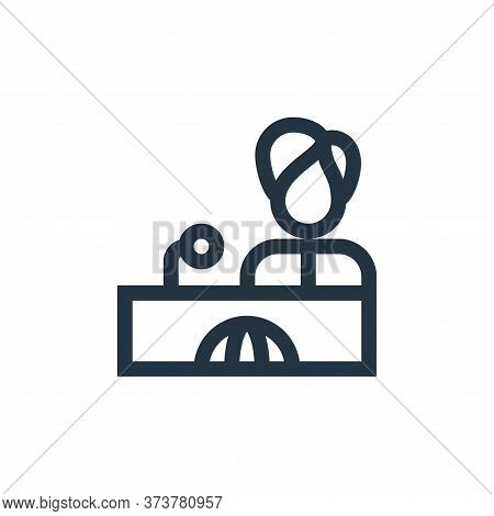 reporter icon isolated on white background from news collection. reporter icon trendy and modern rep