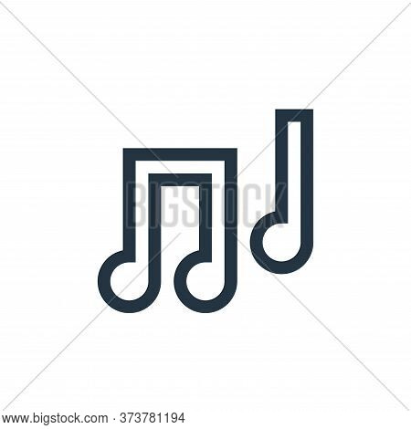 musical note icon isolated on white background from mental health collection. musical note icon tren