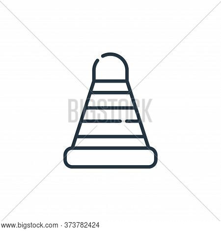 cone icon isolated on white background from labour day collection. cone icon trendy and modern cone