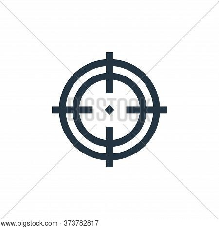 focus icon isolated on white background from job resume collection. focus icon trendy and modern foc