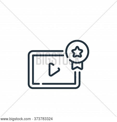 video player icon isolated on white background from social media collection. video player icon trend