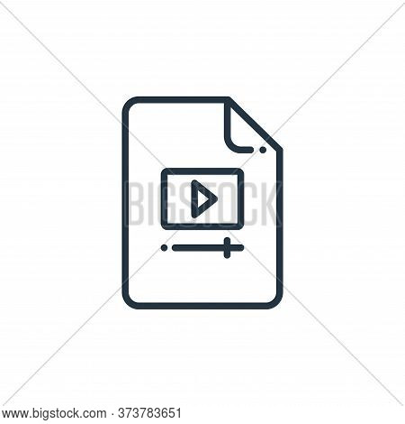 video file icon isolated on white background from online learning collection. video file icon trendy