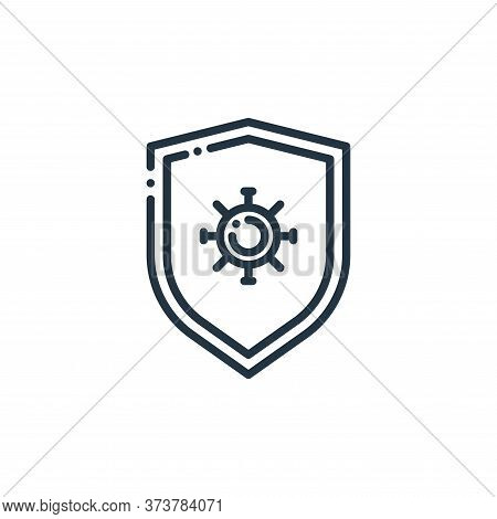 protection icon isolated on white background from virus transmission collection. protection icon tre