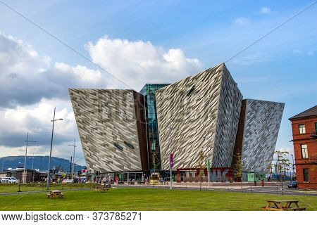 Belfast, Northern Ireland, Uk - August 1th, 2019: The Titanic Museum In Belfast, Northern Ireland, U
