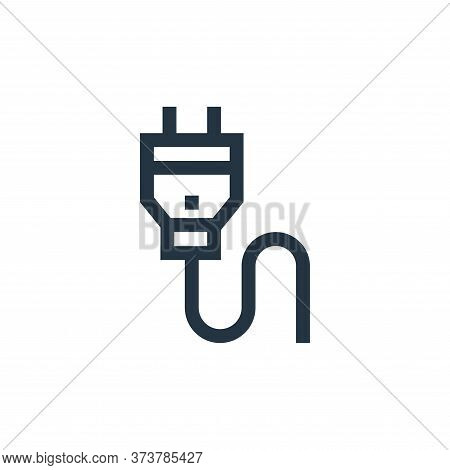 power plug icon isolated on white background from electrician tools and elements collection. power p