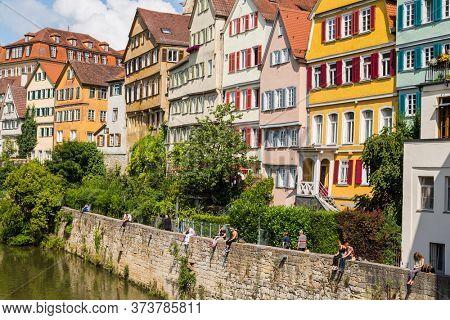 TUBINGEN, GERMANY- JUNE, 30, 2013: Tubingen, an old town on the River Neckar, Baden-Wurttemberg, Germany.