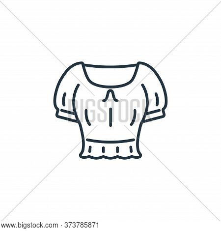 Crop Top Vector Icon From Clothes And Outfit Collection Isolated On White Background