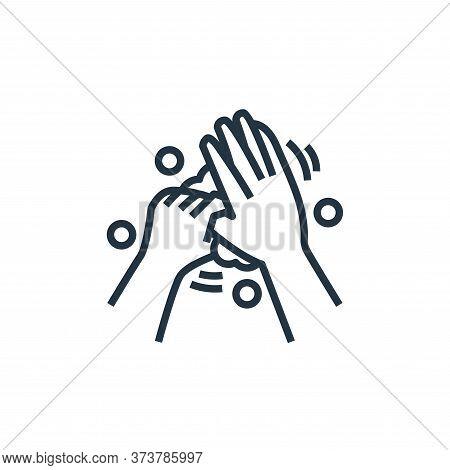 washing hand icon isolated on white background from washing hand collection. washing hand icon trend