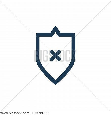 no protection icon isolated on white background from computer hardware collection. no protection ico