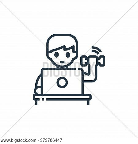 exercise icon isolated on white background from working from home collection. exercise icon trendy a