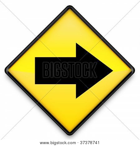 Right Arrow Yellow