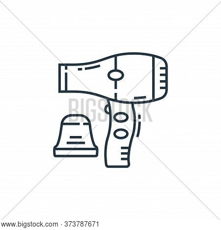 hair dryer icon isolated on white background from technology devices collection. hair dryer icon tre