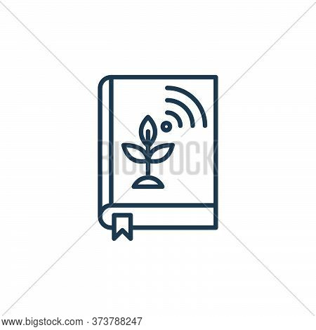 book icon isolated on white background from smart farm collection. book icon trendy and modern book